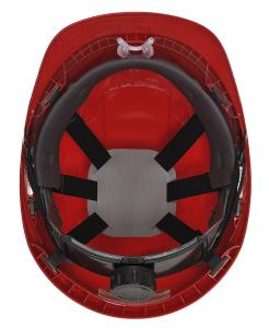 hard hat with integrated face shield