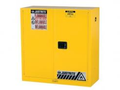 Sure-Grip® EX Flammable Safety Cabinet, 30 Gallon, 44 Inch Height, 2 Manual Close Doors, Yellow