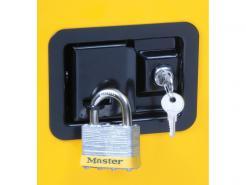 Sure-Grip® EX Flammable Safety Cabinet, 30 Gallon, 1 Shelf, 2 Self-Close Doors, Yellow