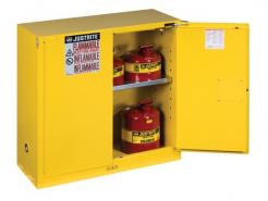 Sure-Grip® EX Flammable Safety Cabinet, 30 Gallon, 1 Shelf, 2 Self-Close Doors, Yellow Singapore