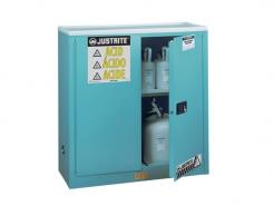 Sure-Grip® EX Corrosives/Acid Steel Safety Cabinet, 30 Gallon, 2 Manual Close Doors, Blue