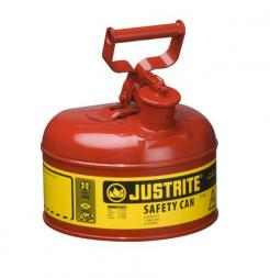 Type I Steel Safety Can For Flammables, 1 Gallon, Red