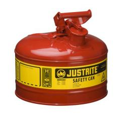 Type I Steel Safety Can For Flammables, 2.5 Gallon, Red