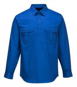 Lightweight Long Sleeve Closed Front Business Shirt