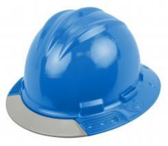 Bullard Aboveview Full-brim Hard Hat With Interchangeable Front Brim Pacific Blue