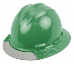 Bullard Aboveview Full-brim Hard Hat With Interchangeable Front Brim Kelly Green