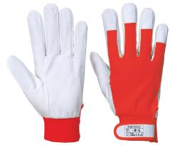 red goatskin gloves
