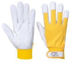 yellow goatskin gloves