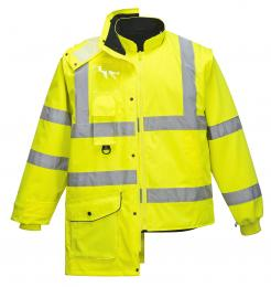 hi vis jacket with removable lining