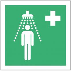 Emergency Shower Safety Sign