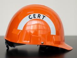 Bullard Advent A1 CERT Helmet, Ratchet Suspension, Orange
