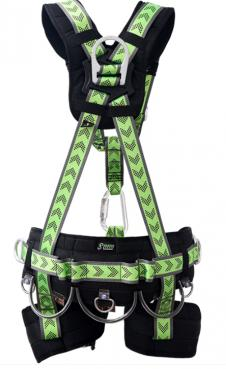 COMFORTABLE SUSPENSION BODY HARNESS WITH WORK POSITIONING BELT