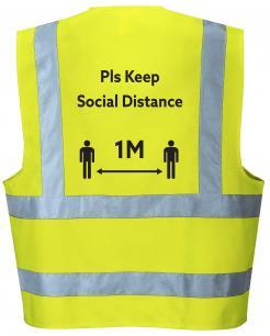 Social Distancing Hi-Vis Vest 1m Singapore