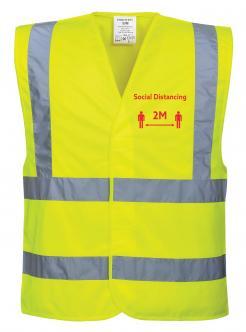 Social Distancing Hi-Vis Vest 2m