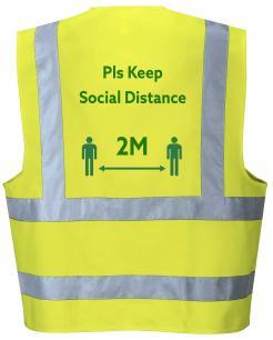 Social Distancing Hi-Vis Vest Yellow