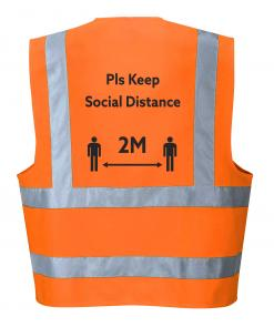 Social Distancing Hi-Vis Vest Orange
