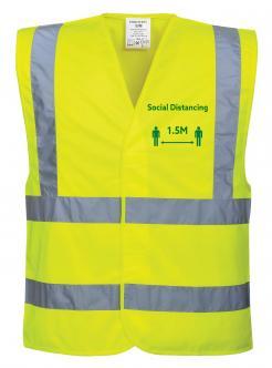 Social Distancing Hi-Vis Vest 1.5m