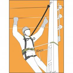 HELIXON wire rope, retractable fall arrester 7 m, for vertical use only