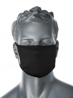 3-Ply Anti-Microbial Fabric Face Mask Black