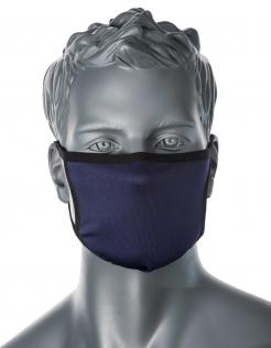 3-Ply Anti-Microbial Fabric Face Mask Navy