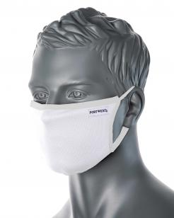 3-Ply Anti-Microbial Fabric Face Mask White