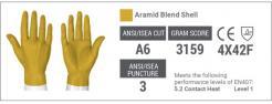 Helix® Aramid Steel Seamless Cut Resistant 2080 Gloves