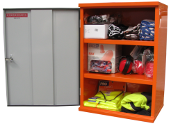 PPE Storage Cabinet - Single Small Door - 3 Shelves