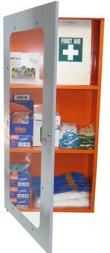 PPE Storage Cabinet-Single Perspex Door - 3 Shelves (500401)