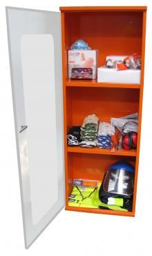 PPE Storage Cabinet - Single Large Perspex Door - 3 Shelves