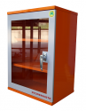 PPE Storage Cabinet - Single Small Perspex Door - 3 Shelves