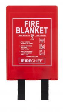 Firechief Premium 1.2M X 1.8M Fire Blanket In Rigid Case (BPR3/K100-P)