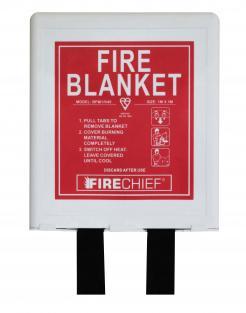1 x 1m Fire Blanket, Basic Pod In White