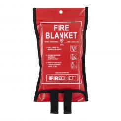 Firechief Premium 1.1M X 1.1M Fire Blanket In Soft Case (SVB1/K100-P)