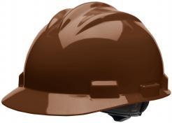 Bullard Safety Hard Hat S61, Ratchet Suspension, Chocolate Brown