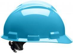 Bullard Safety Hard Hat S61, Ratchet Suspension, Sky Blue