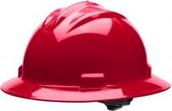 Bullard Full-Brim Hard Hat S71, Ratchet Suspension, Red