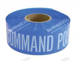 "Blue COMMAND POST Barricade Tape 3"" X 1000'"