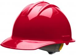 Bullard Hard Hat Classic C30, 6 Point Ratchet Suspension, Red