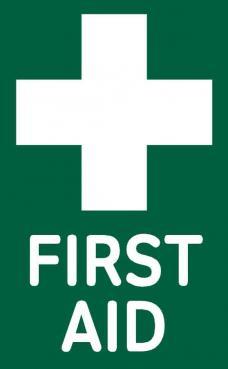 first aid box sticker