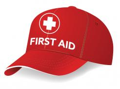 Red First Aid Cap