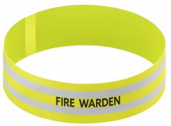 Yellow Fire Warden Armband