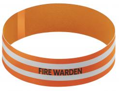 Orange Fire Warden Armband