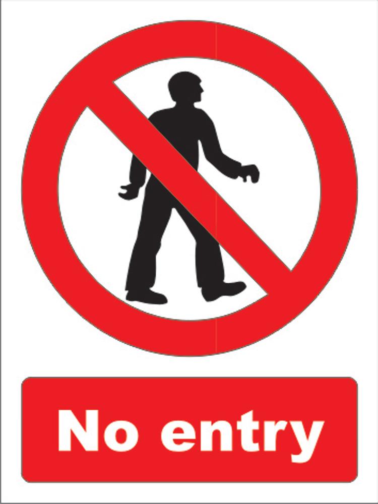 Northrock Safety No Admittance Sign No Admittance