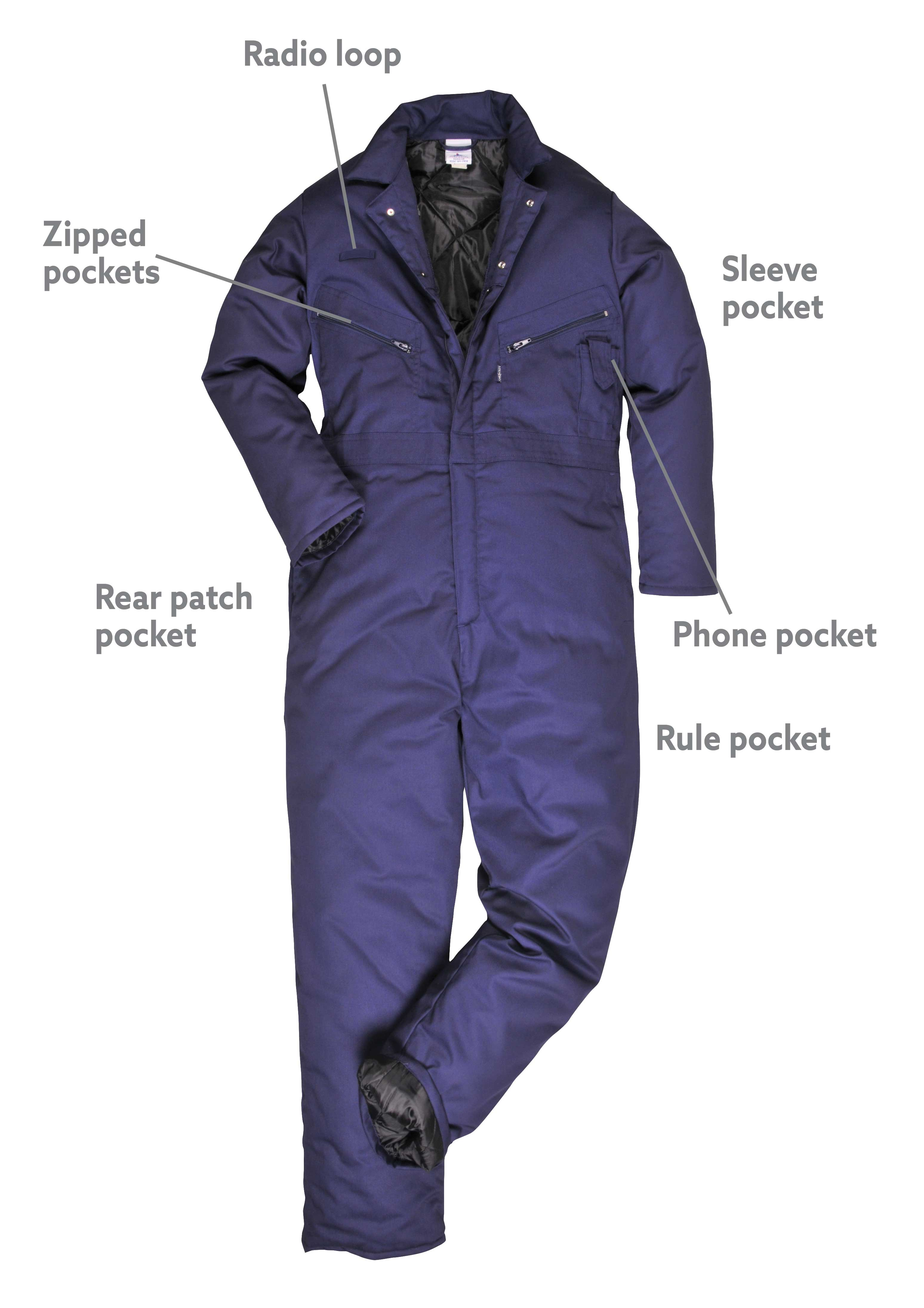 Lined Orkney Portwest Coverall Winter S816 Warm Thermal Boilersuit Suit